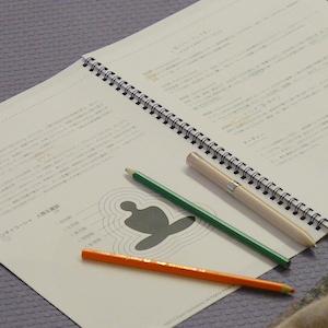 ヨガニードラのテキストとペン
