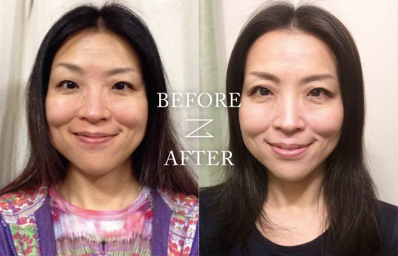 顔ヨガ 飯田順子 Before&After