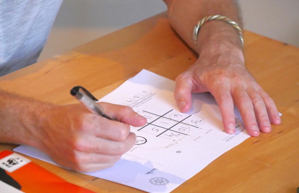 数秘学チャートに書き込む手