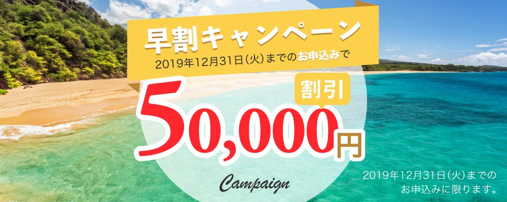 サンガワイ 早割50000円割引