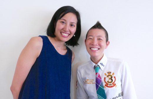 サントーシマ香先生と高尾美穂先生のツーショット写真