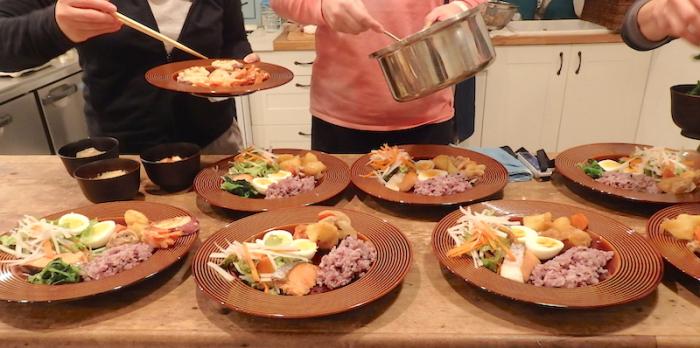 野口夫妻 無水鍋料理の調理例