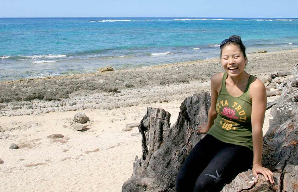 10年前のヨーコ・フジワラ。ヨガジェネレーションのハワイ特集の際の写真