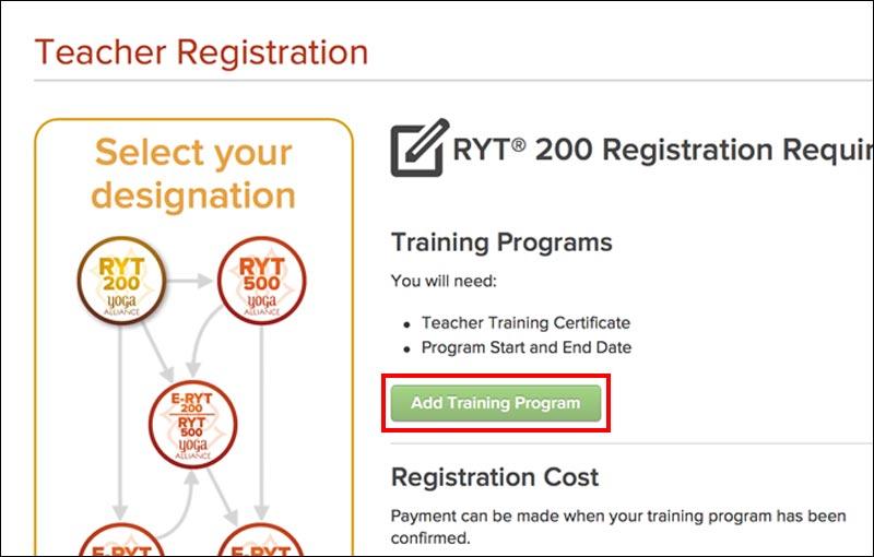 Add training programをクリック
