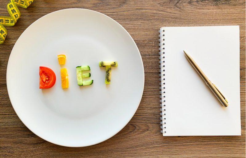 ダイエットの予定を考えるためのノート
