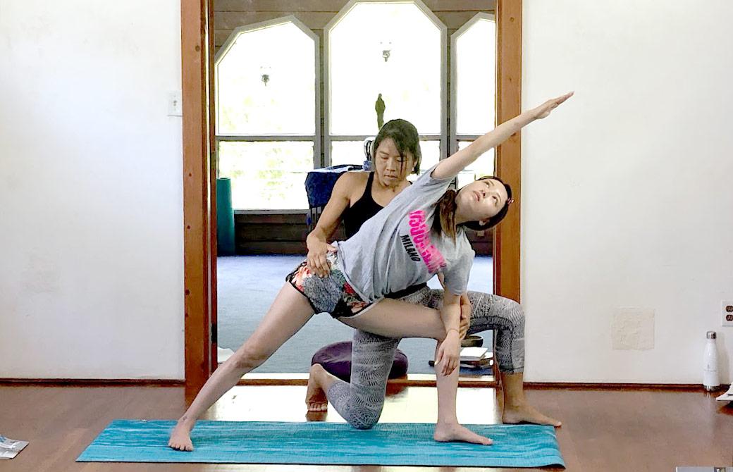 ハワイヨガ留学14期の練習風景