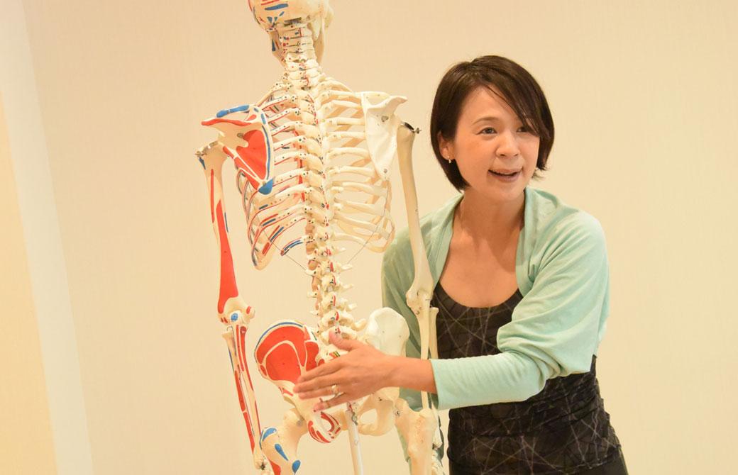 Miwaと骨模型