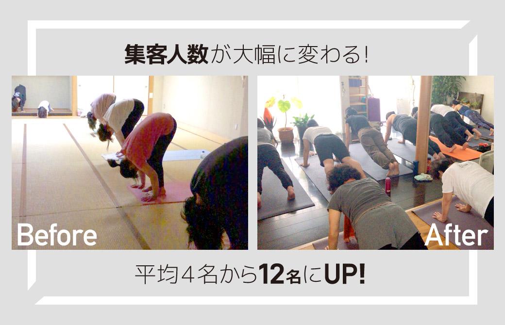 内田かつのりプロコース集客人数がUP!