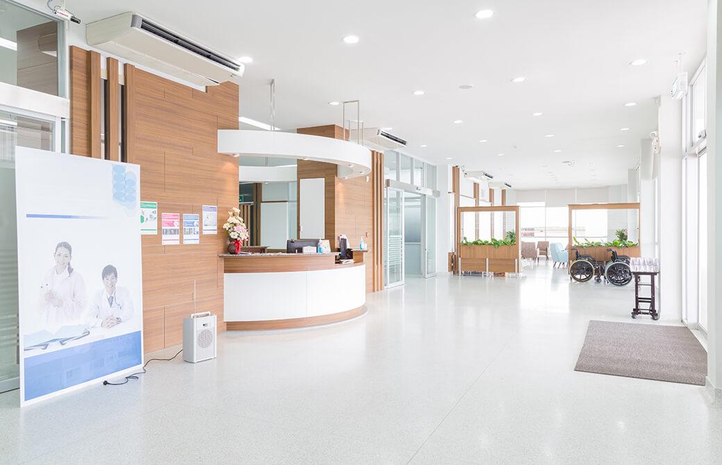 病院の待合スペース